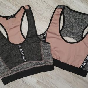 TWO (2) Nasty Gal Do It Better Sports Bras Size M